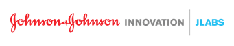 Johnson & Johnson Innovation, JLABS logo in red, grey, and blue