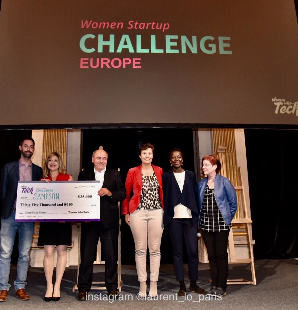 Sampson Solutions Wins 2018 Women Startup Challenge Europe