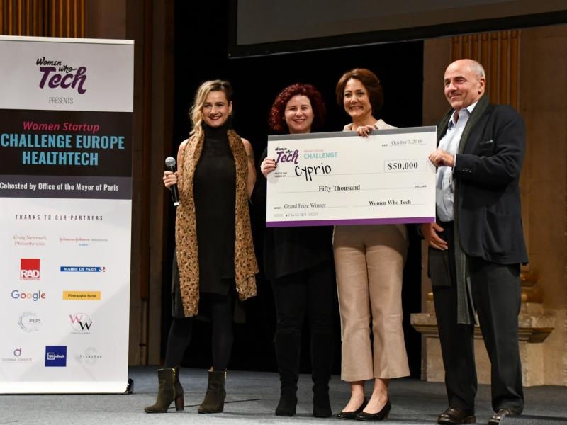 Cyprio won the Women Startup Challenge Europe Healthtech