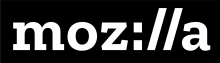 Mozilla logo in black and white